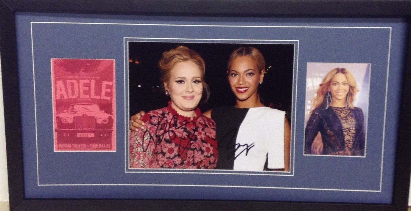 Adele & Beyonce Signed Photo