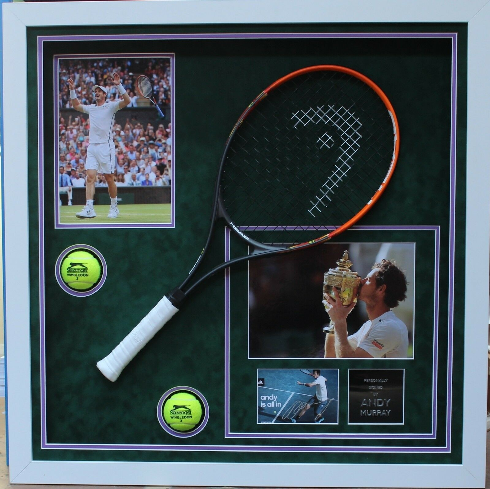 Andy Murray Signed Tennis Racket