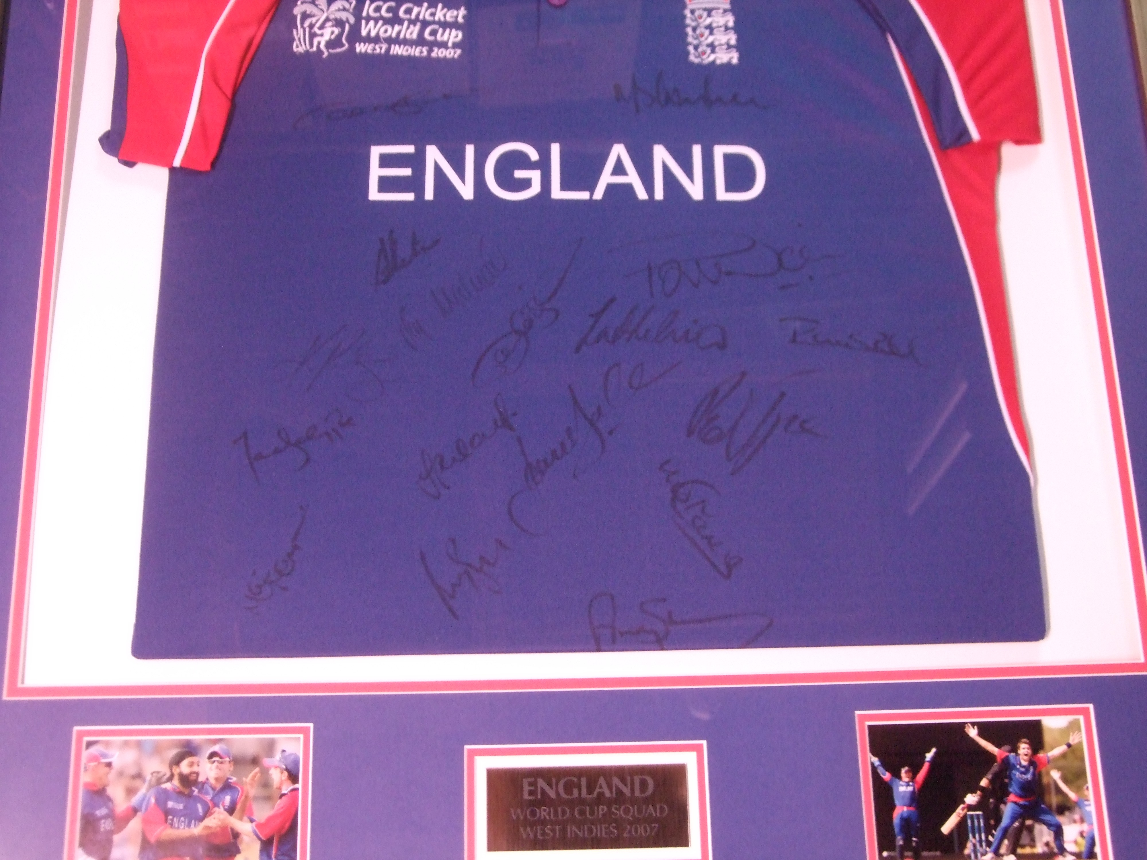 Signed England Cricket Shirt World Cup 2007