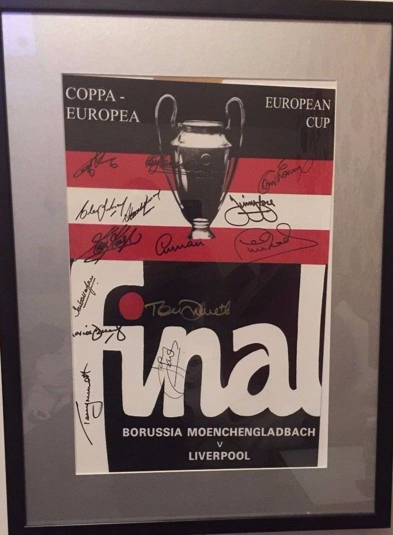 Liverpool Signed European Cup Poster X14