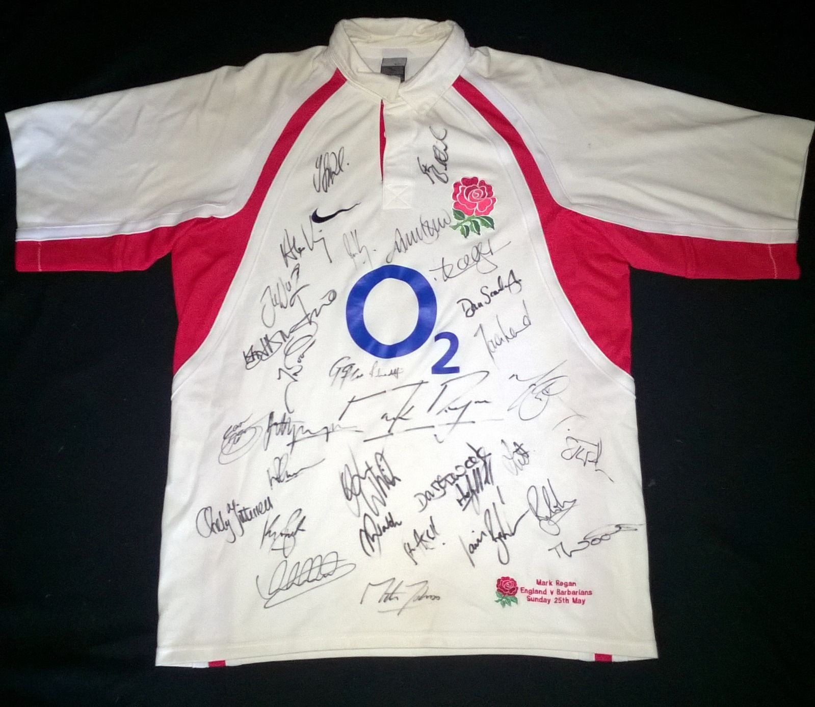 Mark Regan Autographed England Rugby Shirt