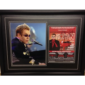 Elton John Autographed Red Piano Flyer