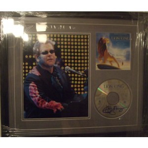 Signed Elton John Lion King Cd