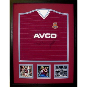 Frank McAvennie and Tony Cottee Signed West Ham Football Shirt