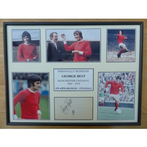 George Best Autograph Display