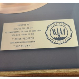 ISLEY BROTHERS GOLD AWARD
