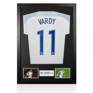 Jamie Vardy Signed Shirt