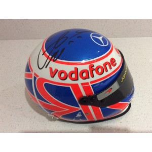 Jenson Button Signed F1 Helmet