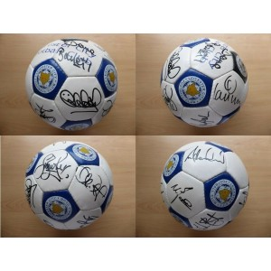 Lcfc 2001 Squad Autographed Football