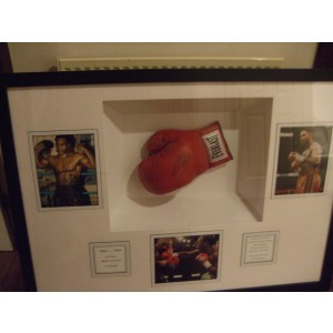 Lennox Lewis And Mike Tyson Signed Glove