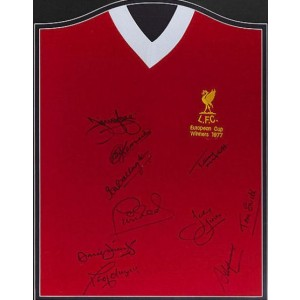 Liverpool Autographed 1977 Euro Shirt