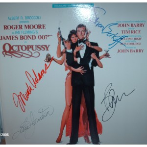 James Bond 007 Octopussy Signed