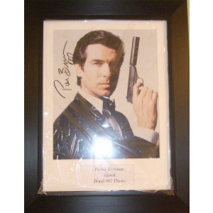 Signed Pierce Brosnan James Bond Photo