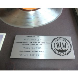 Isley Brothers RIAA Award