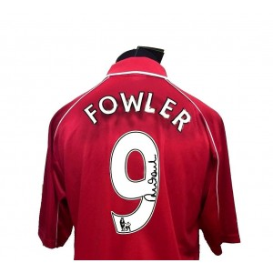 Robbie Fowler Signed Liverpool Shirt