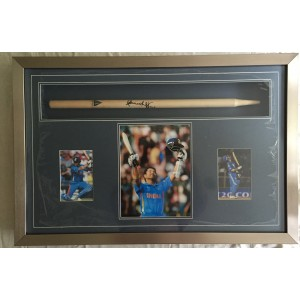 Tendulkar Signed Cricket Stump