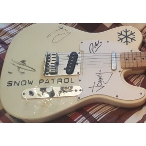 Signed Snow Patrol Guitar