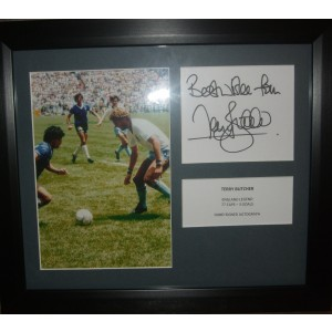 Terry Butcher Signed Nutmeg Photo