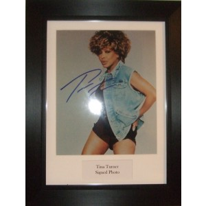 Autographed Tina Turner Photo
