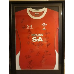 Wales 2010 Six Nations Signed Rugby Shirt