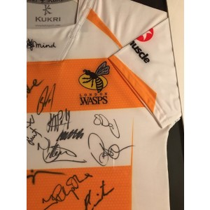 Wasps Autographed Rugby Shirt