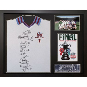 West Ham 1980 FA Cup Team Signed Shirt