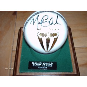 Michael Clarke Signed Cricket Ball
