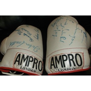 Ali and Angelo Dundee Autographed Gloves