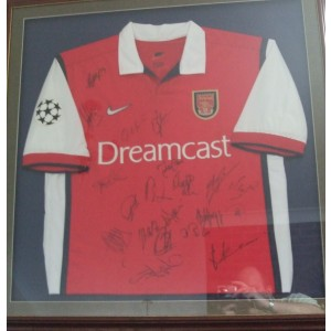 Arsenal Signed Champions League Shirt