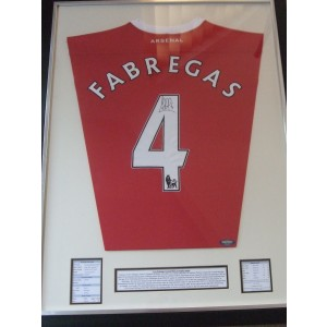 Fabregas Signed Arsenal Shirt