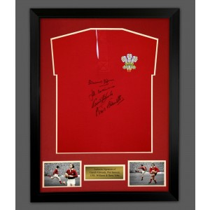 Bennett, Edwards, John and Williams Signed Rugby Shirt