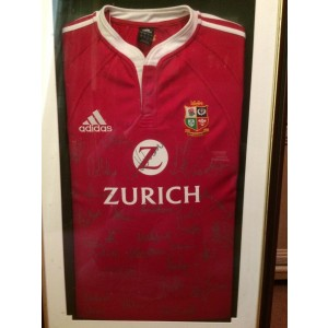 British Lions Squad Signed 2005 Rugby Shirt