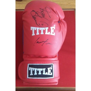 Frank Bruno and Lennox Lewis Dual Signed Glove