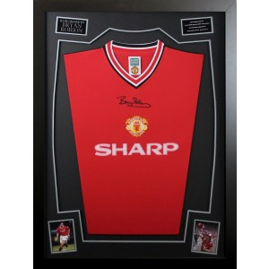 Bryan Robson Signed Manchester United Shirt