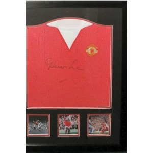 Denis Law Signed Manchester United Shirt