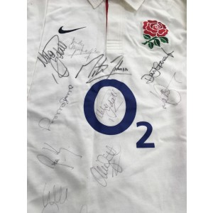 England Rugby Signed Shirt