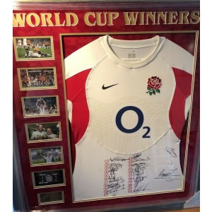 England Rugby 2003 World Cup Winners Signed Shirt