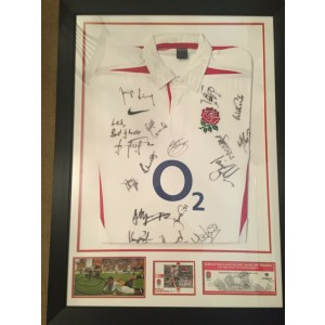 England Rugby World Cup 2003 Signed Shirt