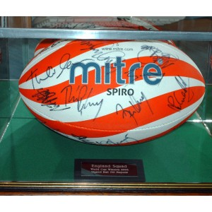 Rugby Ball Glass Display Case