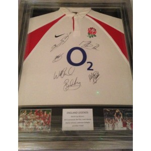2003 Legends Signed England Shirt