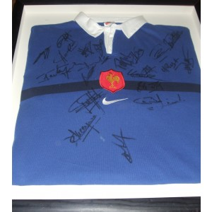 French Autographed 1999 Rugby Shirt