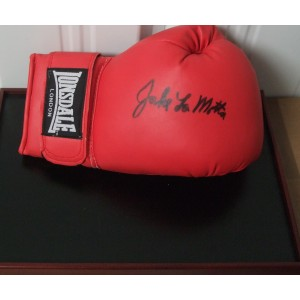Signed Jake Lamotta Boxing Glove