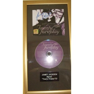 Janet Jackson Signed Twenty Foreplay Cd