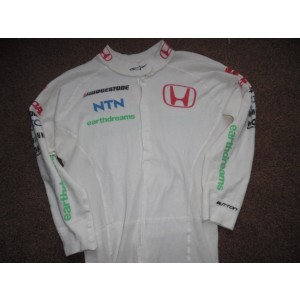 Honda F1 Team Jenson Button Worn Suit