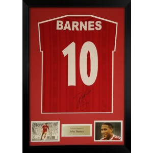 John Barnes Signed Liverpool Shirt
