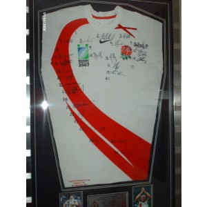 Signed 2007 England  Rugby Shirt