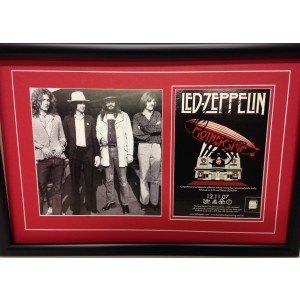 Signed Led Zeppelin Flyer