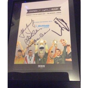 Legends of Rugby Signed Programme