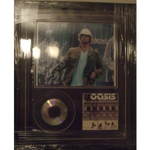 Oasis Signed Cd Display
