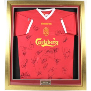 Liverpool League Cup Autographed Shirt  2003